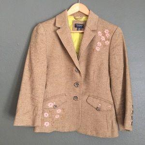 American Eagle Tweed Embroidered Jacket
